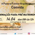 Formação para encontro pré-matrimonial