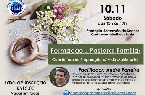 Encontro de formação sobre pré-matrimonial em Salvador-BA