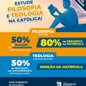 Universidade Católica do Salvador oferece desconto nos cursos de Filosofia e Teologia